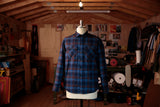 BLUE MULTI PLAID FLANNEL WORK SHIRT