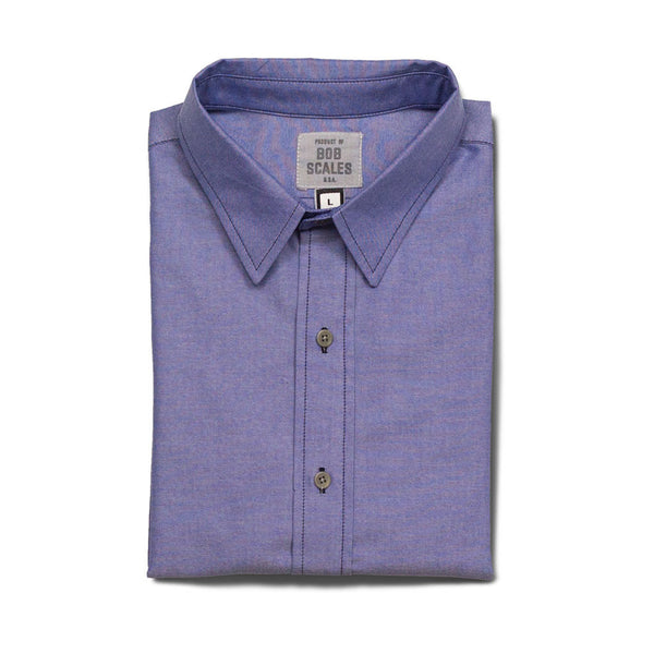 BLUE OXFORD SHORT SLEEVE DAILY DRIVER