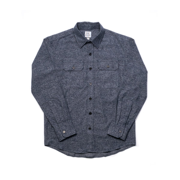 HEATHER BLUE COTTON FLANNEL