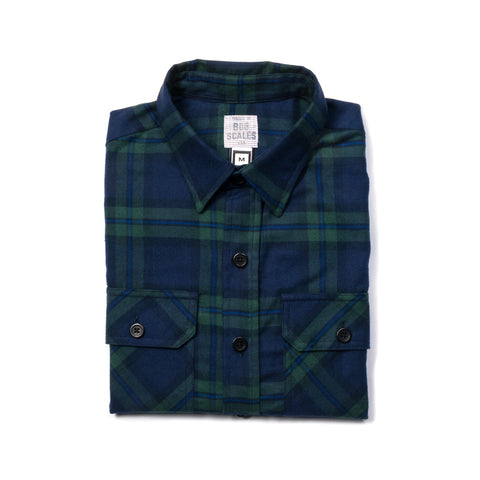 GREEN & NAVY WORK SHIRT