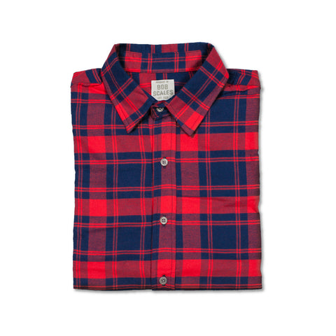 SALE! RED FLANNEL PLAID SHORT SLEEVE DAILY DRIVER