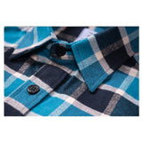 BLUE PLAID FLANNEL WORK SHIRT
