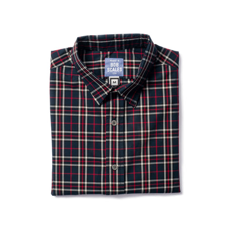 BOTTLE BLUE PLAID SHORT SLEEVE DAILY DRIVER