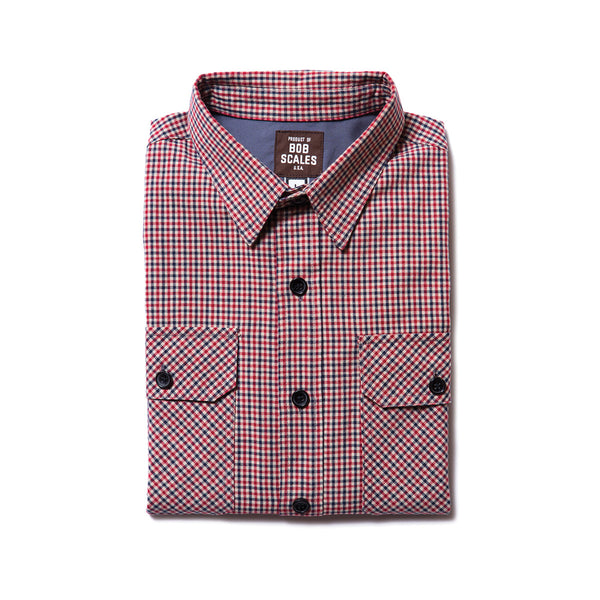 ONLY 1 LEFT! RED CHECK WORK SHIRT