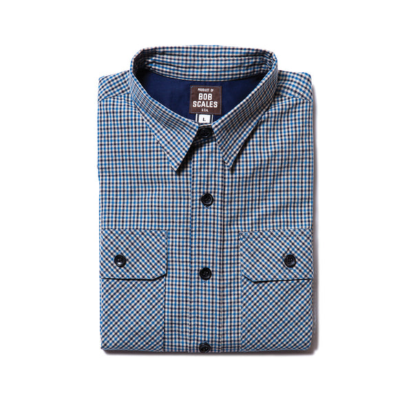 BACK IN STOCK! BLUE CHECK WORK SHIRT