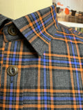 ORANGE WINDOWPANE SHOP SHIRT