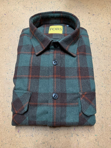 WOOL RUST PLAID WORK SHIRT