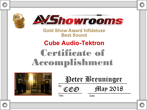 AVShowrooms Certificate of Accomplishment