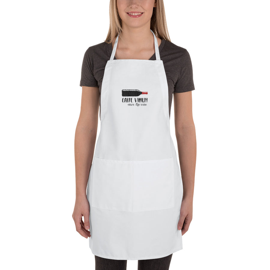 Carpe Vinum Embroidered Apron