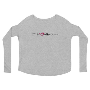 I Heart Wine Long Sleeve TShirt