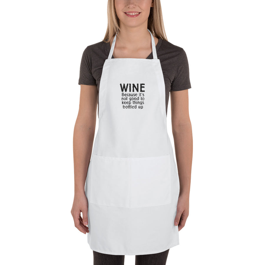 Bottled Up Embroidered Apron