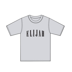ELIJAH CAPITAL GREY T-SHIRT - ELIJAH Tattoo & Barbershop