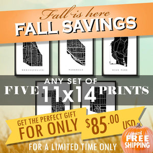 "Fall Sale - Five 11""x14"" Prints for $85 USD"