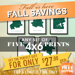 "Fall Sale - Five 4""x6"" Prints for $27 USD"