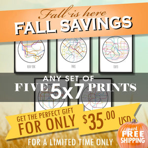 "Fall Savings - Five 5""x7"" prints for $35 USD"