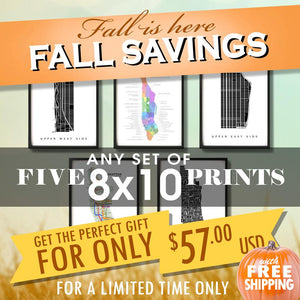 "Fall Sale - Five 8""x10"" Prints for $57 USD"