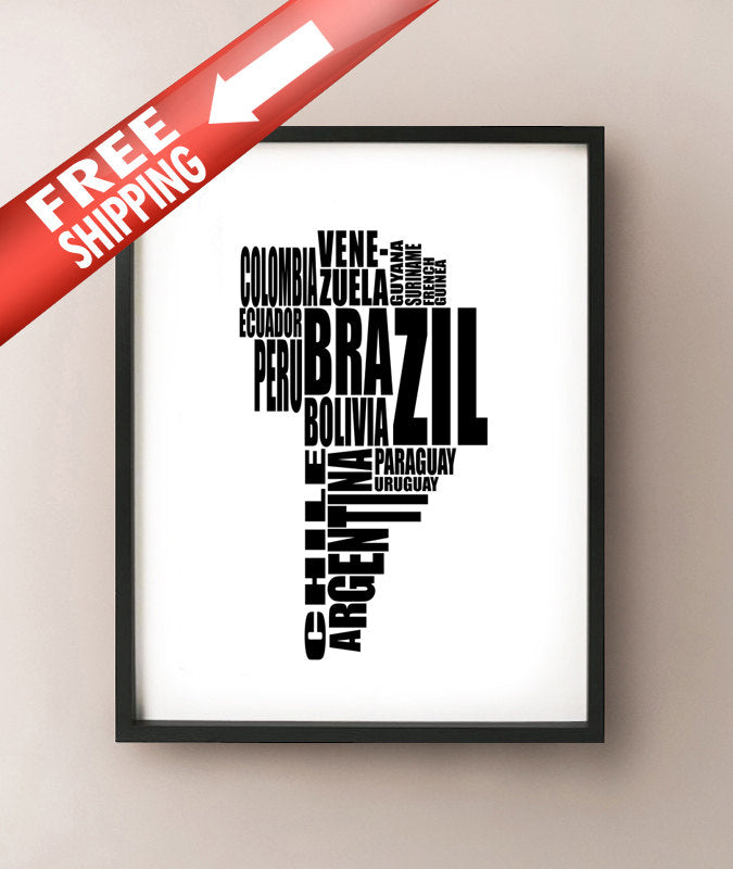 South America Typography