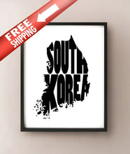 Load image into Gallery viewer, South Korea Typography