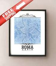 Load image into Gallery viewer, Roma Vintage Blueprint