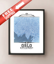 Load image into Gallery viewer, Oslo Vintage Blueprint