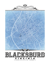 Load image into Gallery viewer, Blacksburg Vintage Blueprint