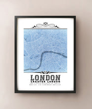 Load image into Gallery viewer, London Vintage Blueprint