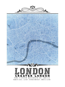 London Vintage Blueprint