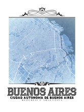 Load image into Gallery viewer, Buenos Aires Vintage Blueprint