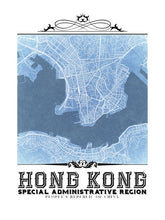Load image into Gallery viewer, Hong Kong Vintage Blueprint