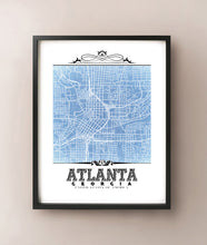 Load image into Gallery viewer, Atlanta Vintage Blueprint