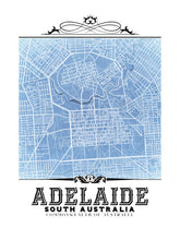 Load image into Gallery viewer, Blueprint Adelaide, Australia vintage map.