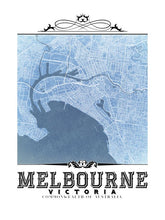 Load image into Gallery viewer, Melbourne Vintage Blueprint