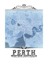 Load image into Gallery viewer, Perth Vintage Blueprint