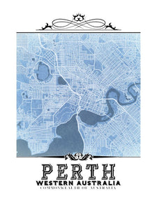 Perth Vintage Blueprint