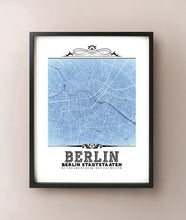 Load image into Gallery viewer, Berlin Vintage Blueprint