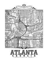 Load image into Gallery viewer, Atlanta Vintage B&W