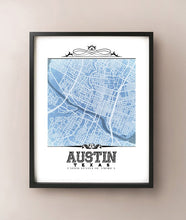 Load image into Gallery viewer, Austin Vintage Blueprint