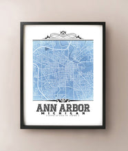 Load image into Gallery viewer, Ann Arbor Vintage Blueprint
