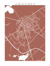 Load image into Gallery viewer, Map of Amherst, Nova Scotia by CartoCreative