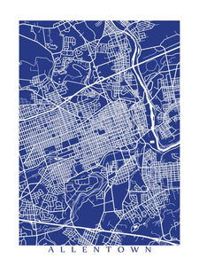 Map of Allentown, Pennsylvania by CartoCreative