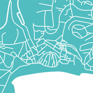 Detail from map of Albufeira, Portugal by CartoCreative