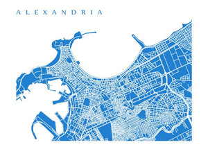 Map of Alexandria, Egypt by CartoCreative