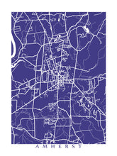 Load image into Gallery viewer, Map of Amherst, Massachusetts by CartoCreative