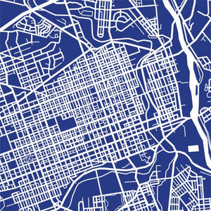 Detail from map of Allentown, Pennsylvania by CartoCreative