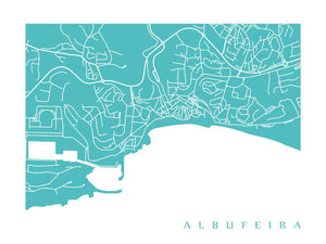 Map of Albufeira, Portugal by CartoCreative