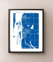 Load image into Gallery viewer, Framed map of Amherstburg, Ontario by CartoCreative