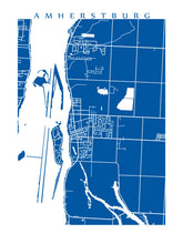 Load image into Gallery viewer, Map of Amherstburg, Ontario by CartoCreative