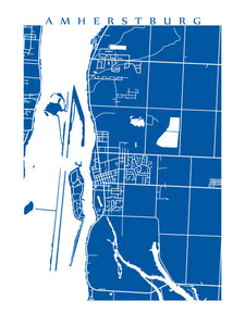 Map of Amherstburg, Ontario by CartoCreative
