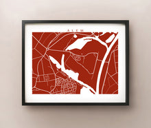 Load image into Gallery viewer, Framed map of Alem, Netherlands by CartoCreative