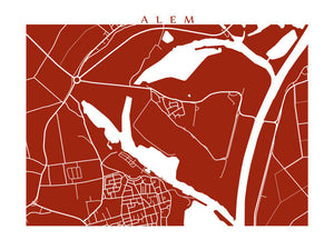Map of Alem, Netherlands by CartoCreative